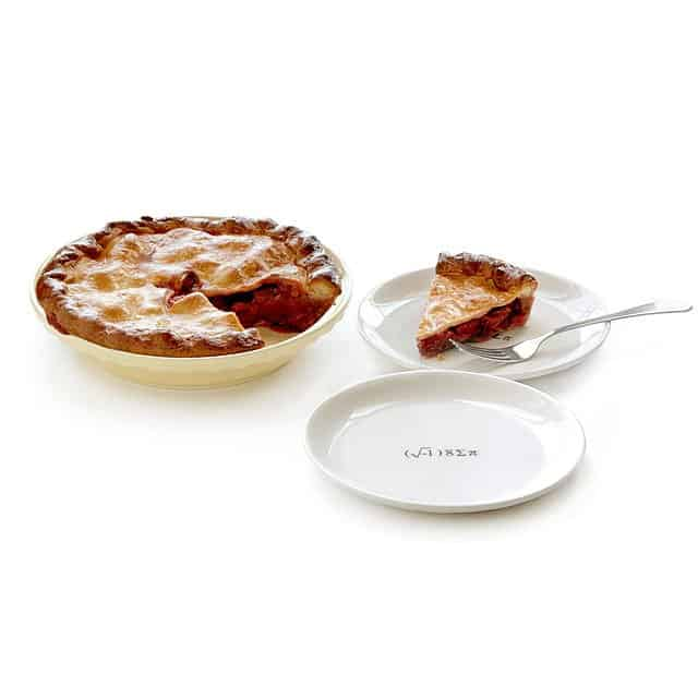 funny gift idea for bakers: i eight sum pie dish