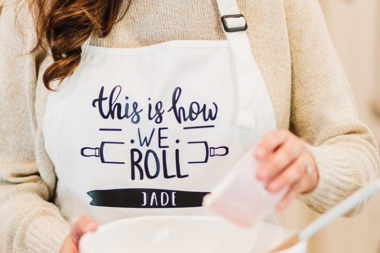 funny baker gifts ideas: personalized apron