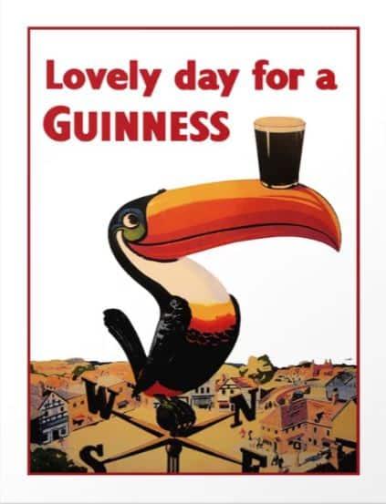 beer gifts for men - advertising vintage poster