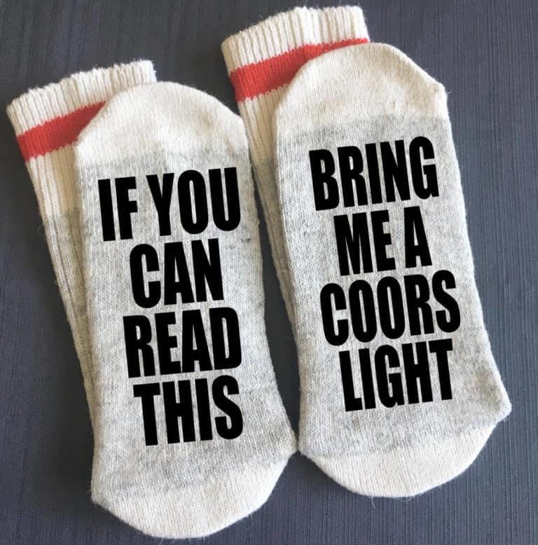 coors light socks - beer clothing