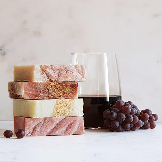 wine soaps - beauty gift