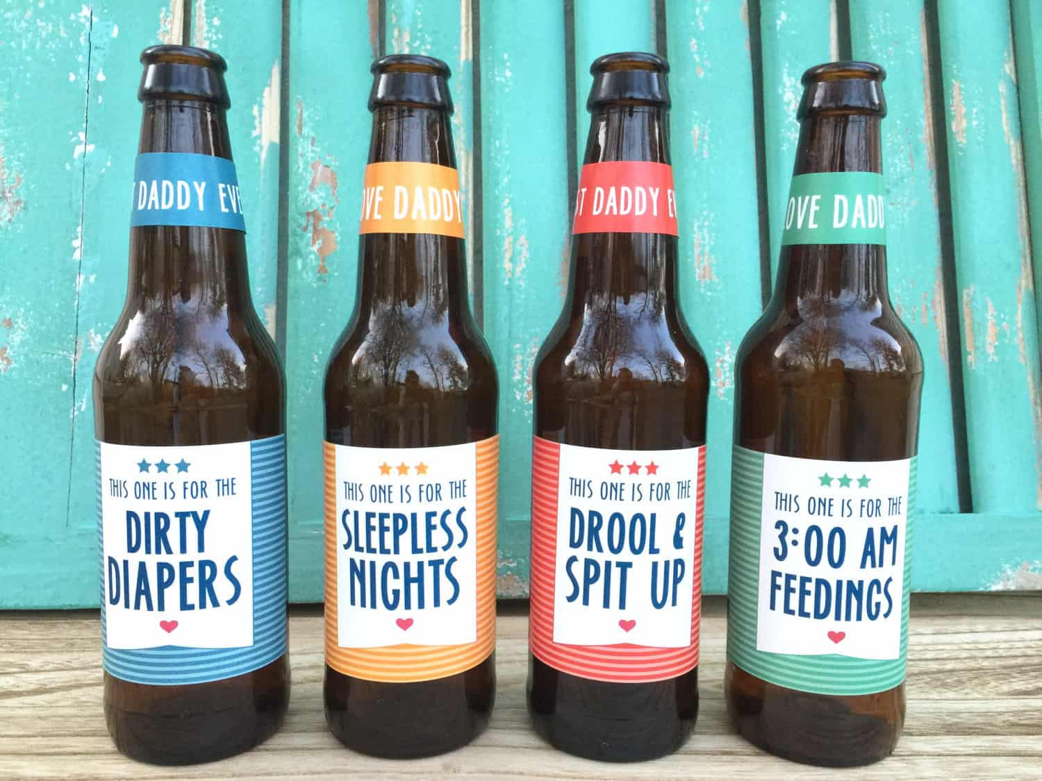 Beer Labels Gift for First-Time Dads On Fathers Day