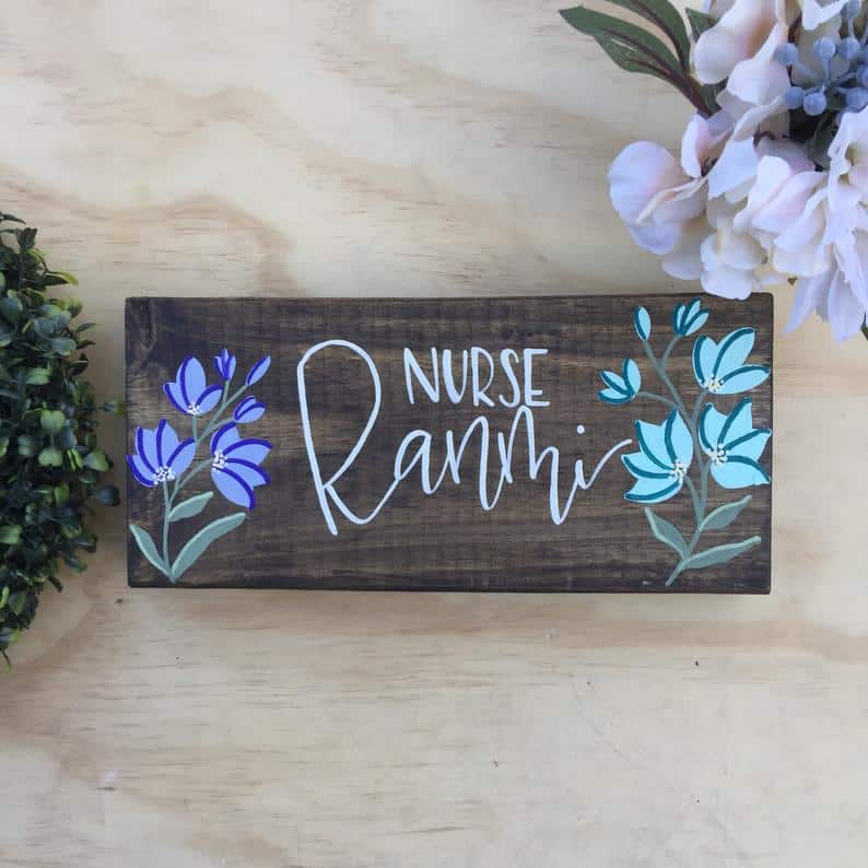 Personalized Nurse Name Sign