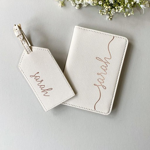 Personalised Passport Holder and Luggage Tag:something for mother's day