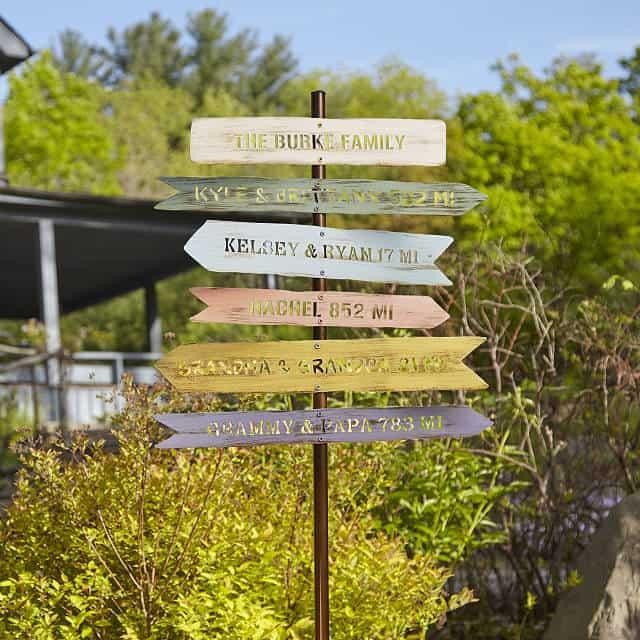 personalized grandpa gift - family member signpost