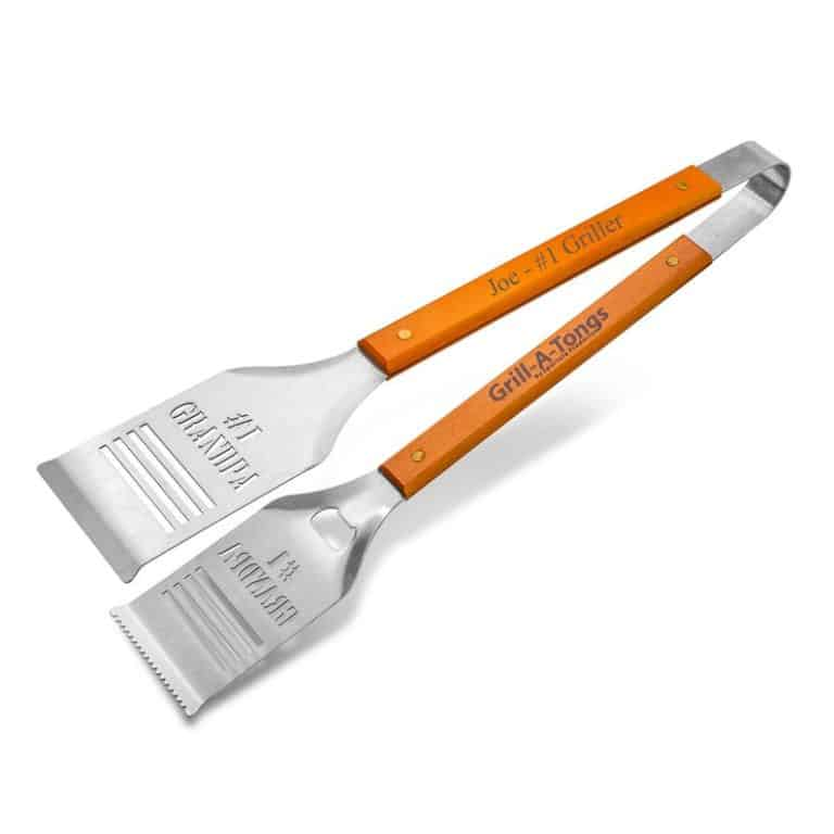 personalized grilling tongs spatula