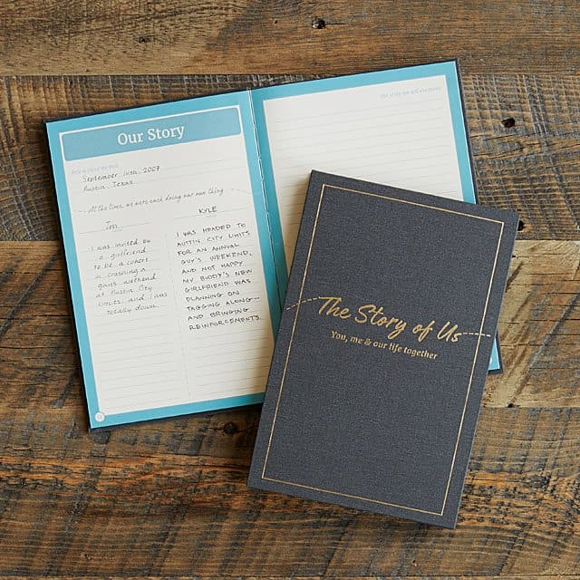 """romantic gift for husband: """"the story of us"""" journal"""