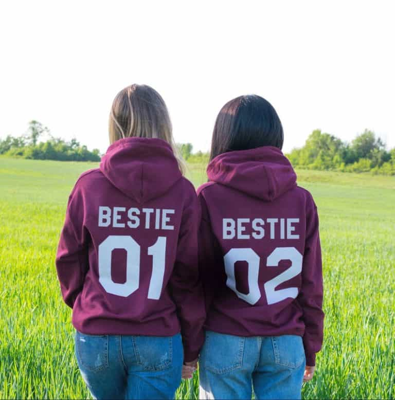 gifts for college bound students: Bestie Hoodies