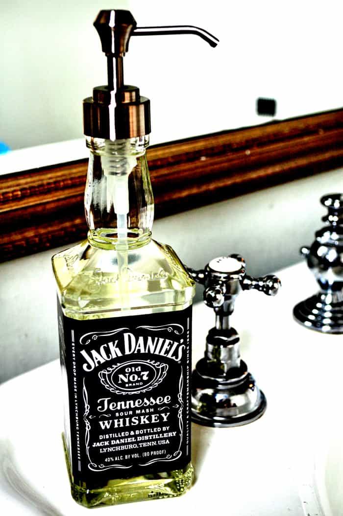 Jack Daniels Soap Dispenser - Cool DIY Gift For A Man Cave
