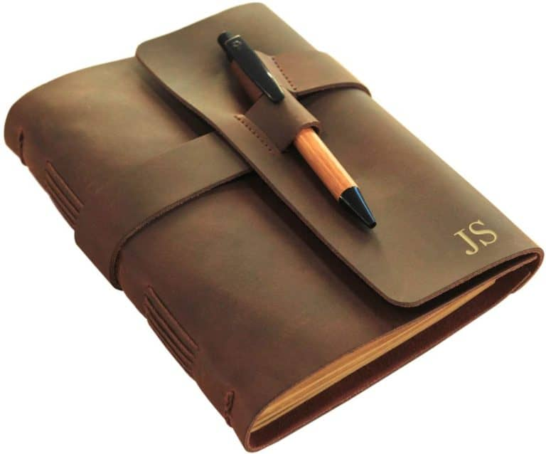 gifts for college freshman:Leather Journal Diary