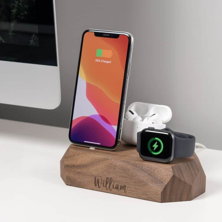 best housewarming gifts for guys: Personalized wooden charger