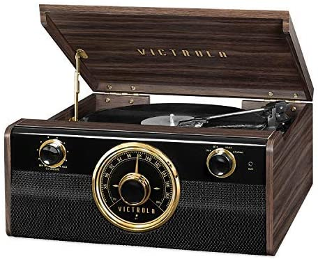 a vinyl record player as a man cave gift