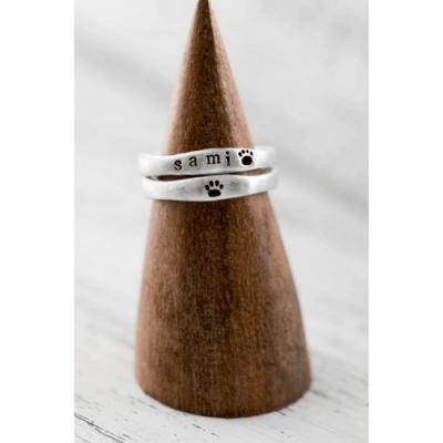 sterling silver pet memorial ring