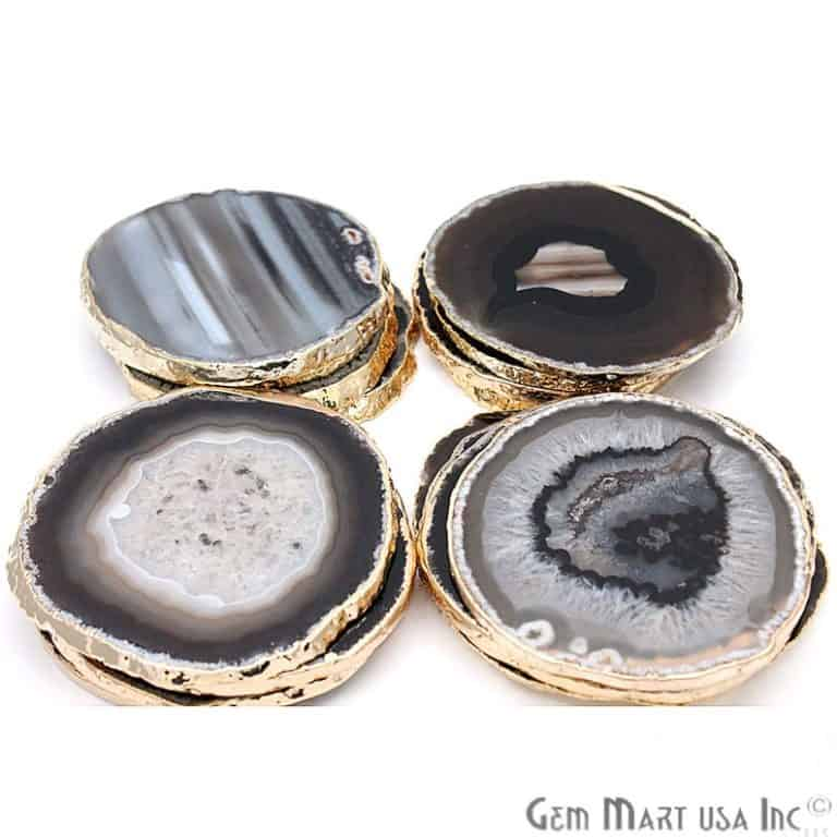 gift ideas for new homeowners: coasters made of black agate