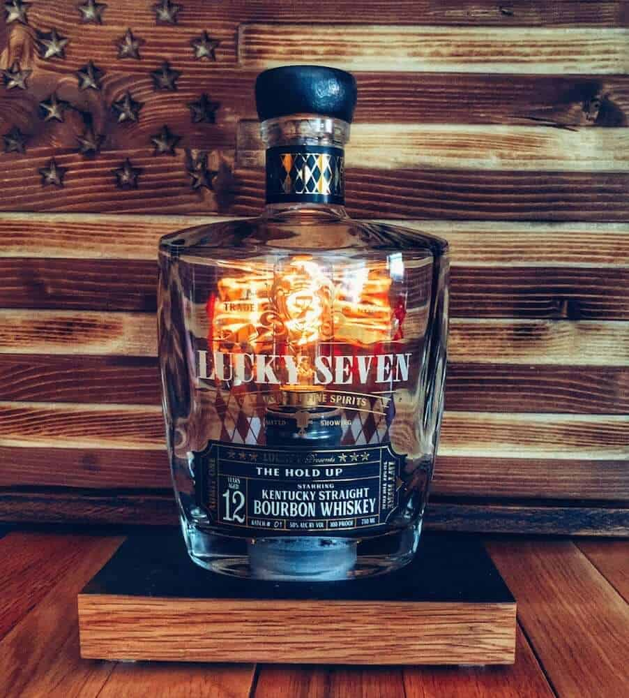 bourbon bottle lamp gift for a man cave