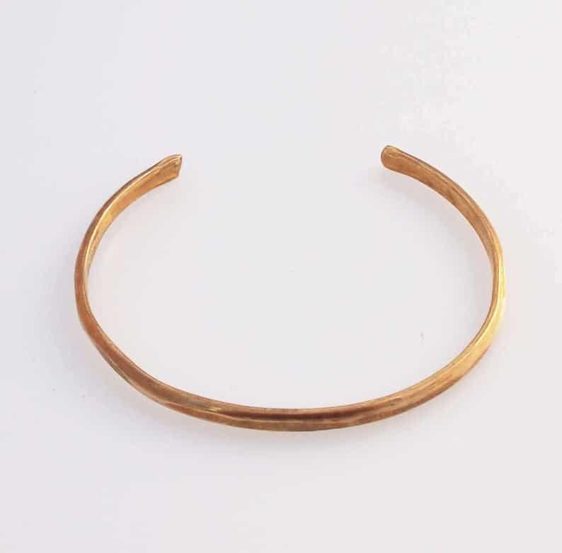 bronze gift for her: bronze bracelet