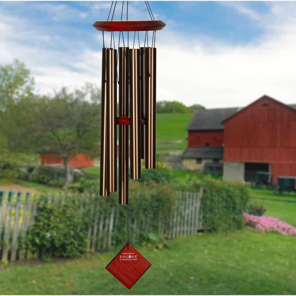bronze wedding anniversary gift: bronze wind chime