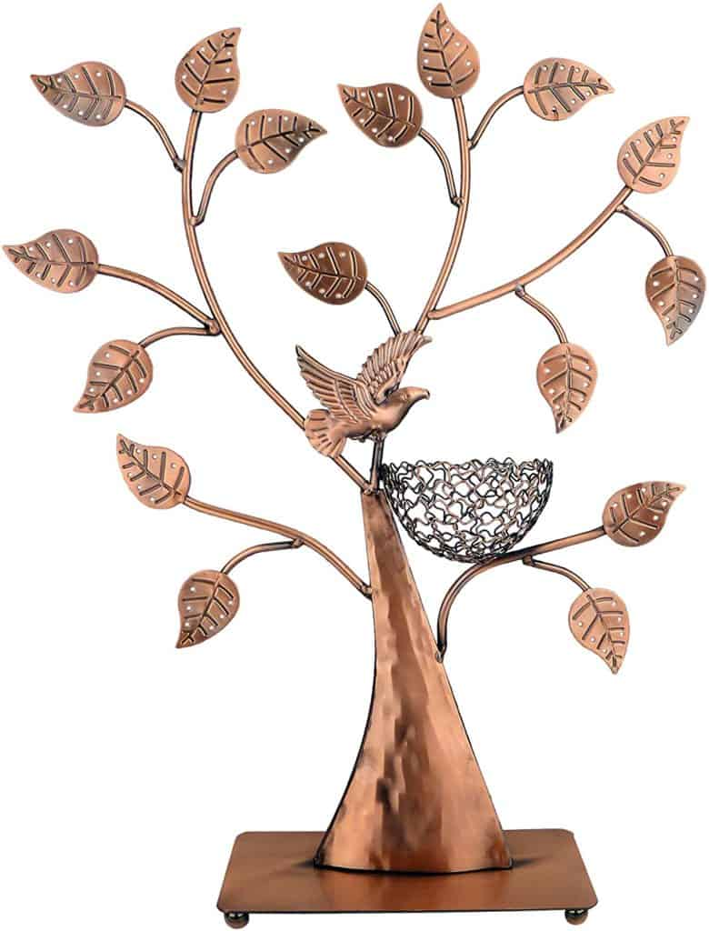 bronze gifts for her: bronze jewelry holder
