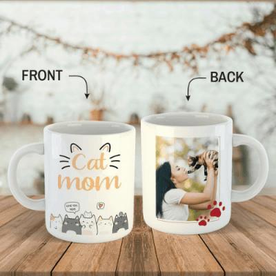 Cat Mom Photo Mug
