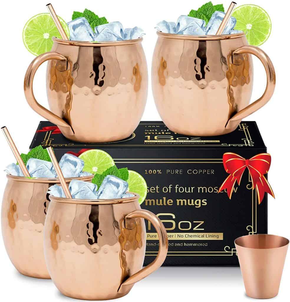 8th anniversary gifts: copper mule mugs