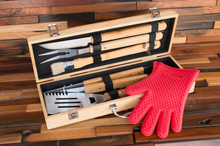 best housewarming gifts for guys: custom bbq grill set