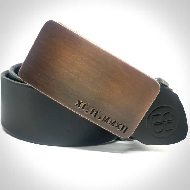8 year anniversary gift for him: custom belt buckle