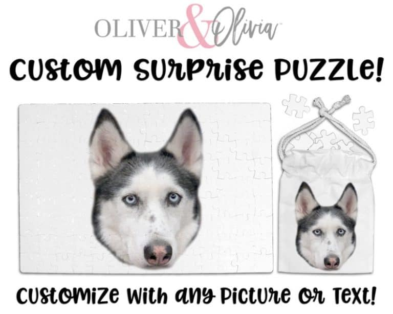 gift for dog moms: Custom Pet Dog Puzzle