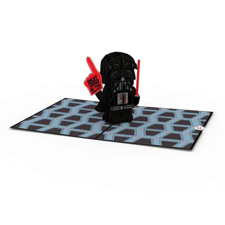 star wars gifts for dad: best dad 3d card