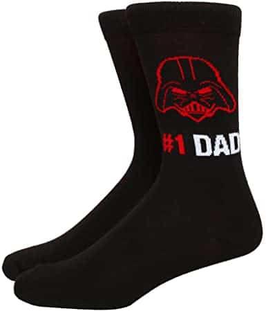 star wars gifts for dad: darth vader #1 dad socks
