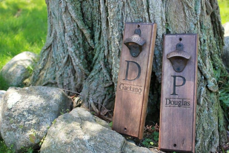 housewarming gifts for boyfriend: engraved magnetic bottle opener