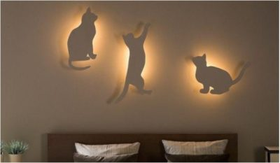 diy cat bedroom lighting