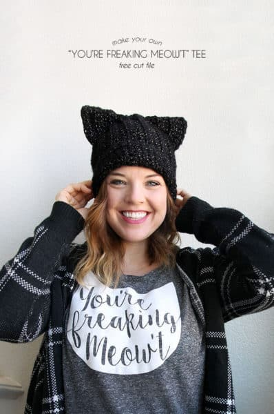 gifts for cat lovers target - diy youre freaking meowt tee