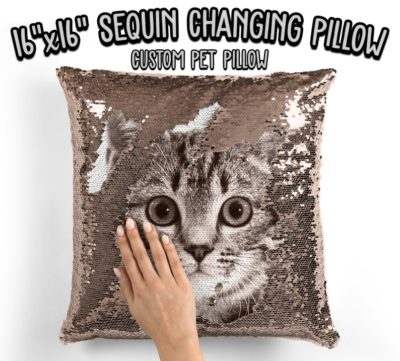 gifts for cat lovers - personalized pillow