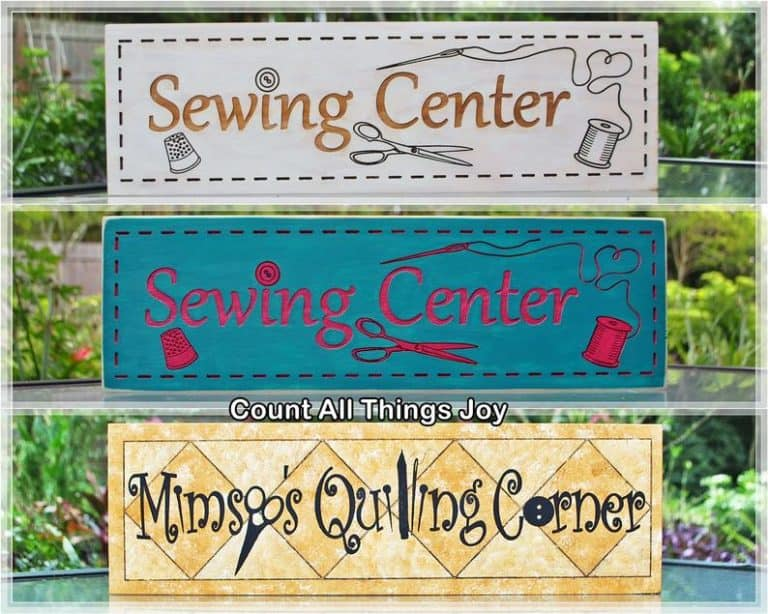 gifts for quilters - custom wording and color sign