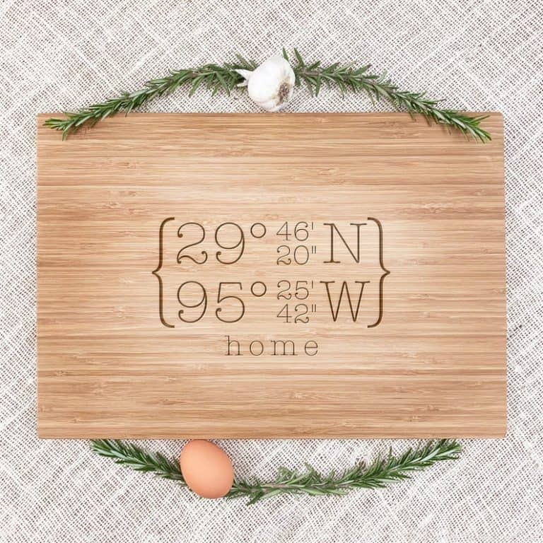 gifts for sister - engraved cutting board