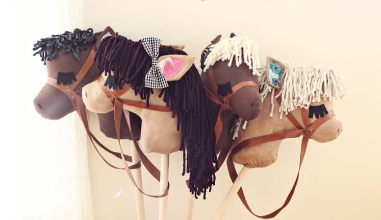 sister presents - diy stick horses