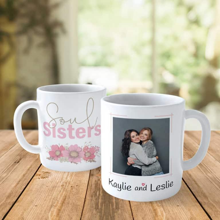 gifts for sister - custom photo mug