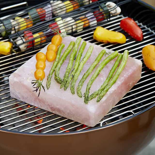 cool grill gifts: himalayan salt bbq plank