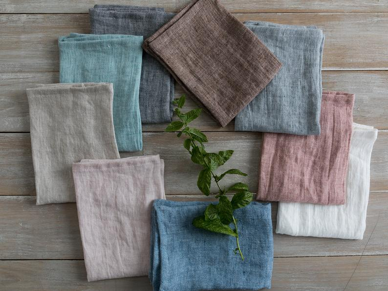 linen gifts for couples: linen napkins
