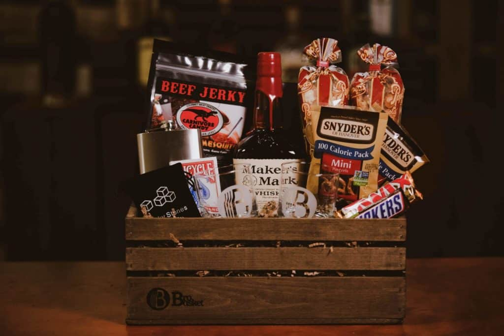the man cave gift basket from the bro basket