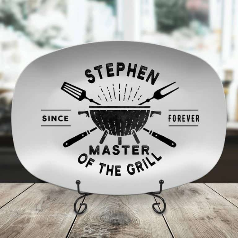 personalized grill gifts: personalized bbq grilling plate