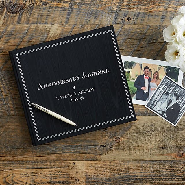 personalized anniversary journal for couples