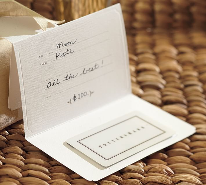 gift idea for couple: pottery barn gift card