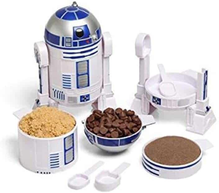 star wars merchandise: r2-d2 measuring cup set