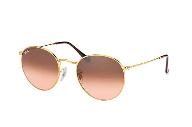 8th anniverasry gift for her: ray-ban rb3447 sunglasses with shiny bronze color