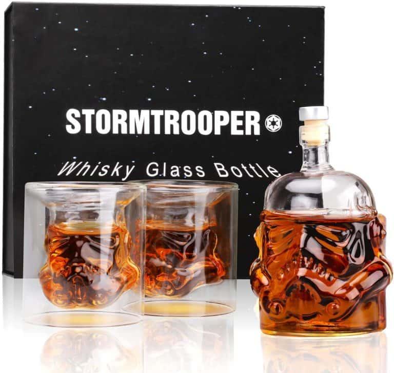 star wars gifts for men: stormtrooper decanter set
