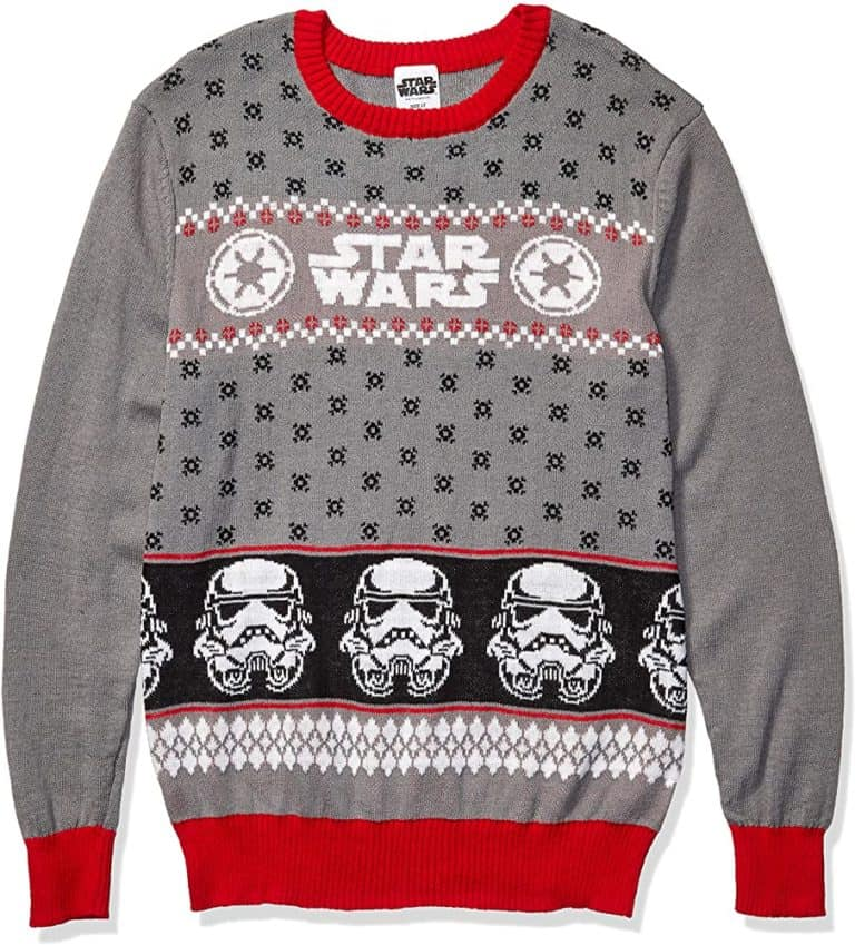 christmas gifts for geeks: star wars ugly sweater