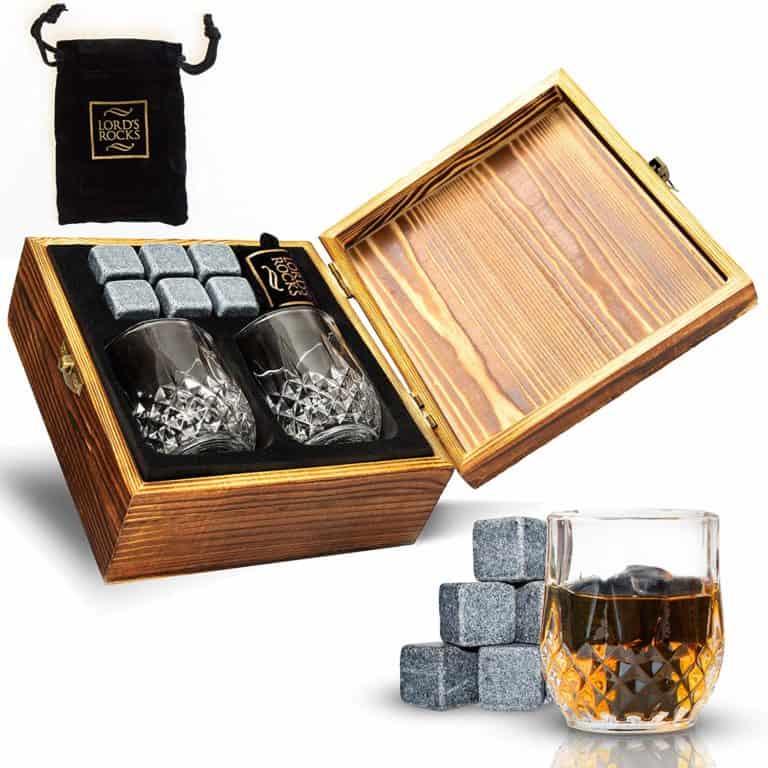 good housewarming gifts: whiskey stones gift set
