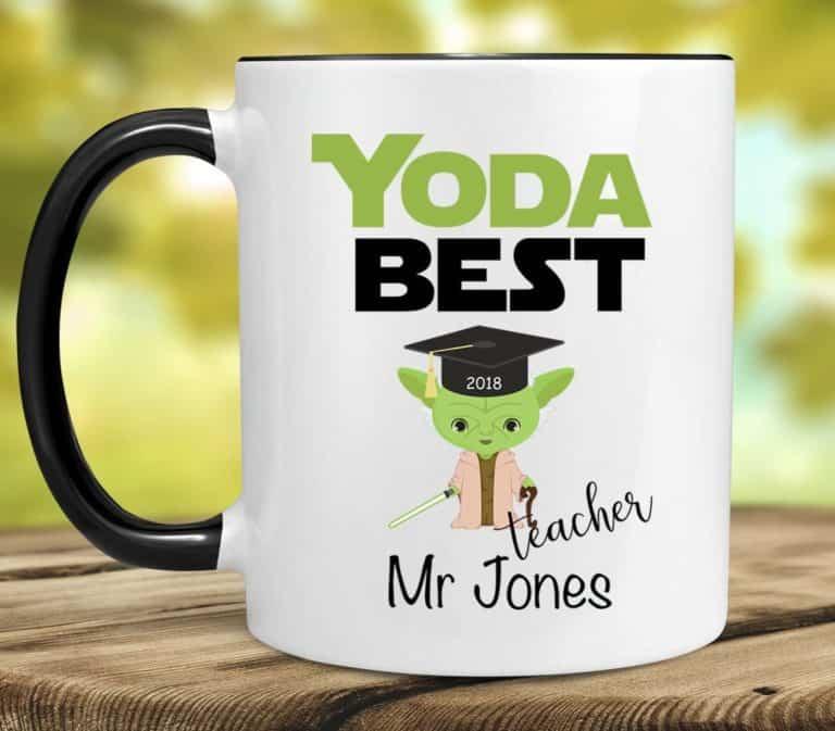 star wars gift for teacher: yoda best teacher mug