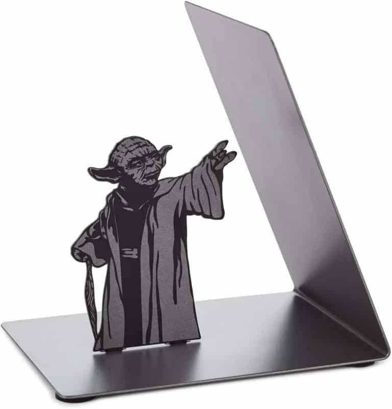 star wars desk accessories: yoda metal bookend
